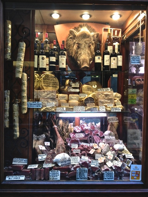 Orvieto salami and cheese shop