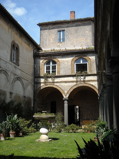 Garden at Palazzo Filippeschi built by the Simoncelli family