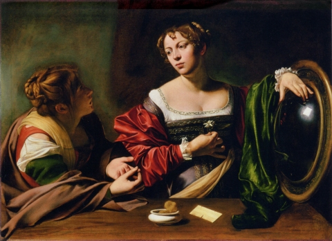 Caravaggio's Martha and Mary Magdalene