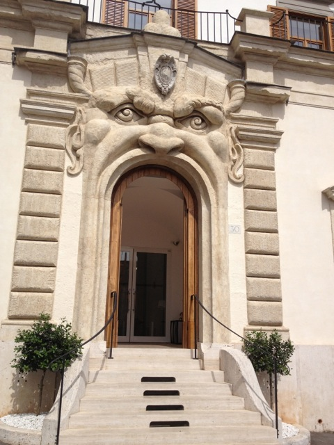 Palazzo Zuccari's screaming door.