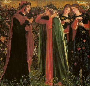 The Salutation of Beatrice, by Dante Gabriel Rossetti