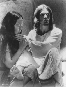"Yvonne Elliman (Mary Magdalene) and Ted Neeley (Jesus) in ""Jesus Christ Superstar"""