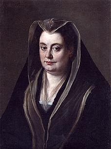 Olimpia as an older woman after the death of her second husband.
