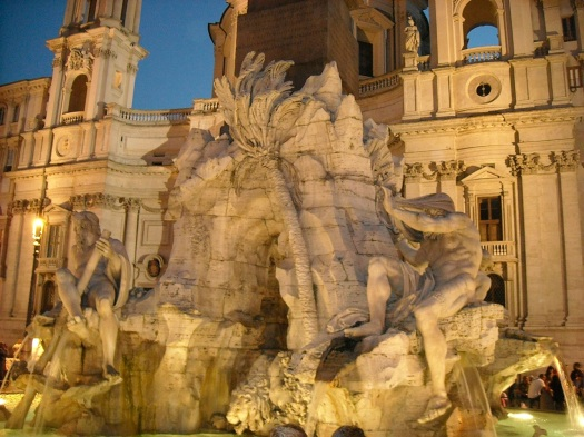 Quattro Fiume (Four Rivers) Fontana in Piazza Navona