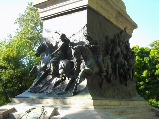 Anita leading Garibaldi's troops away from danger