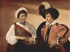 Caravaggio painting of a Fortune Teller