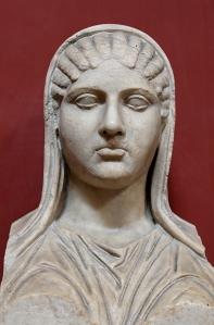 Aspasia bust, From Torre della Chiarrucia (Castrum Novum) near Civitavecchia.