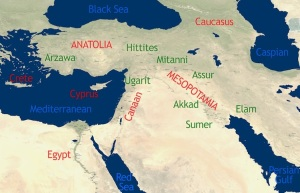 Early cradle of civilization map