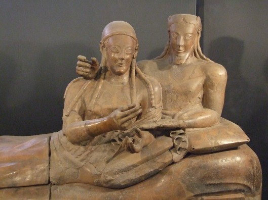 Etruscan couple depicted on their sarcophagus