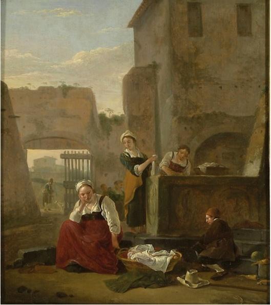 Thomas Wyck, Italian Street Scene