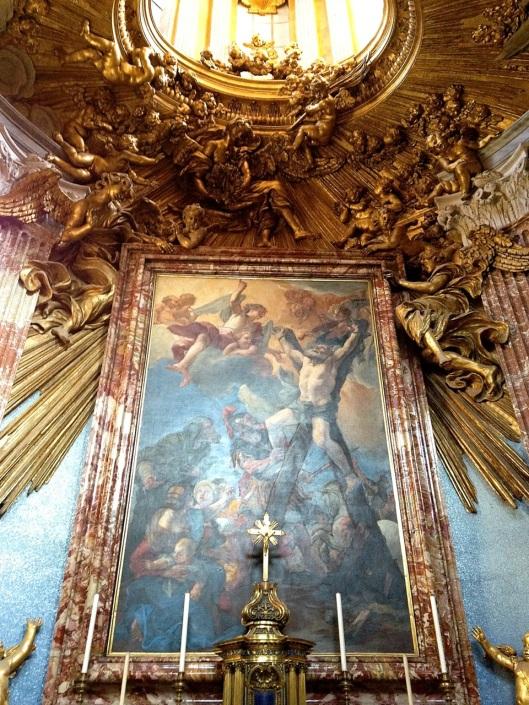 Bernini's realized vision above the altar at Sant'Andrea al Quirinale