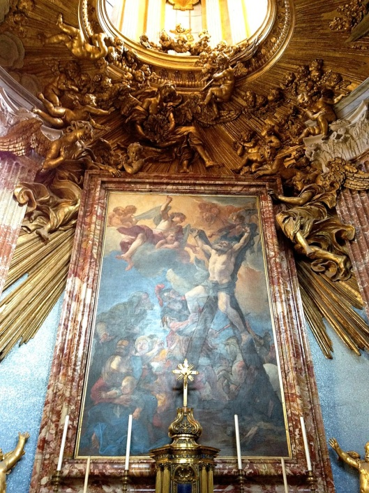 Bernini's realized vision above the altar at Sant'Andrea al Quirinale
