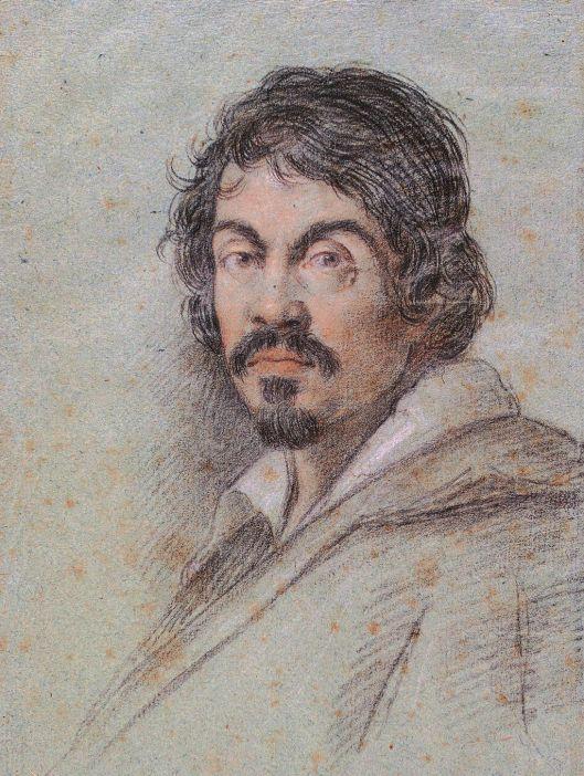 Caravaggio portrait by Ottavio Leoni (c. 1621)