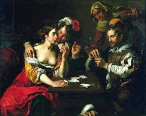 Card Players by Wouter Pietersz. Crabeth (1594-95)