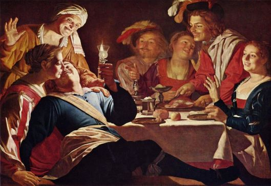 Gerard van Honthorst painting, in the Caravaggio style.