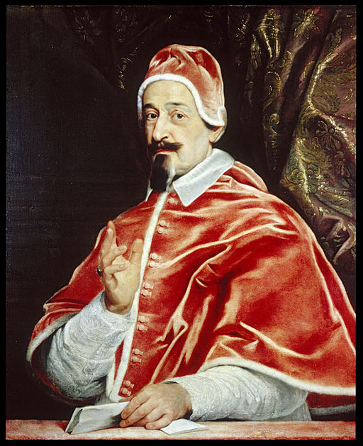 The new pope, Alexander VII (portrait by Giovanni Battista Gaulli)