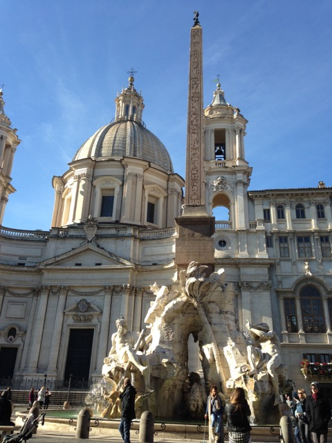 St. Agnes church in Piazza Navona, designed by Borromini for Olimpia.