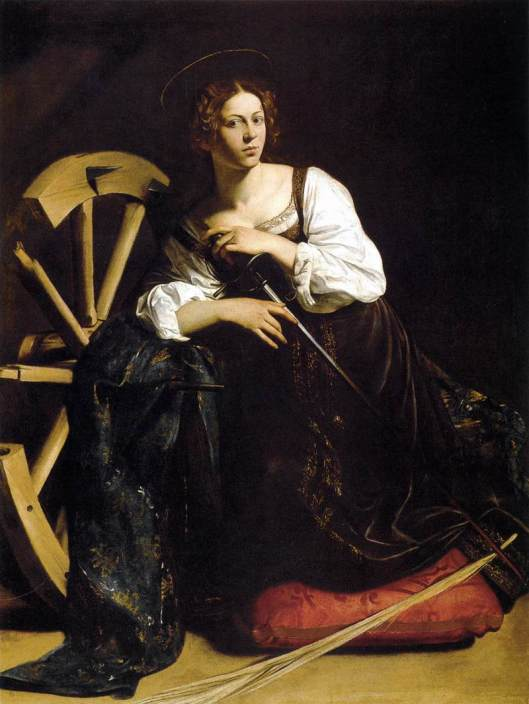 Caravaggio's St. Catherine of Alexandria (1598) with Fillide.