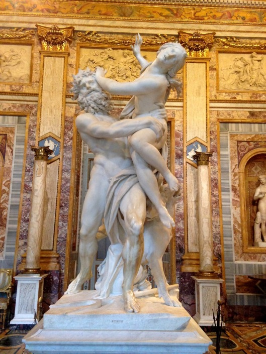 Bernini's Pluto and Proserpina, Galleria Borghese, Rome.